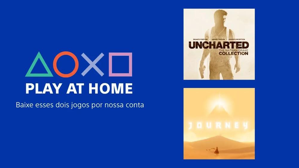 Sony anuncia Play At Home no PS4 e oferece Uncharted e Journey grátis
