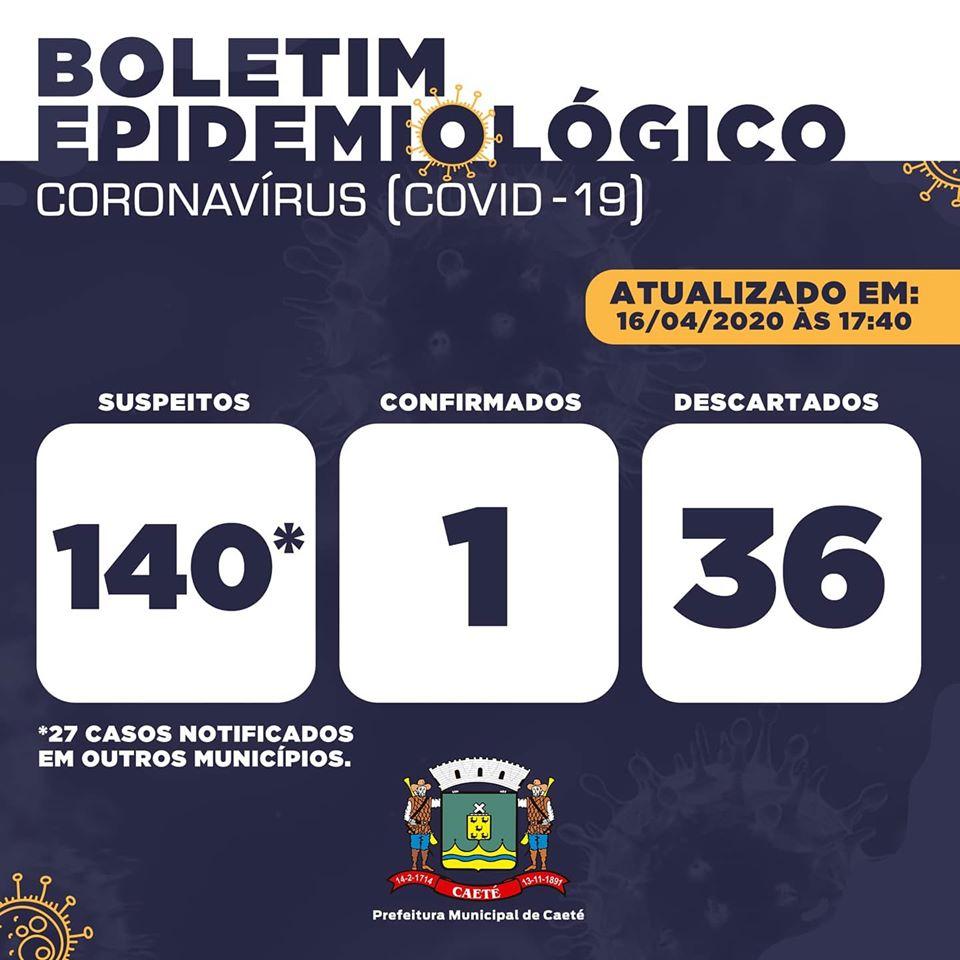 Confirmado o 1º caso de COVID-19 em Caeté