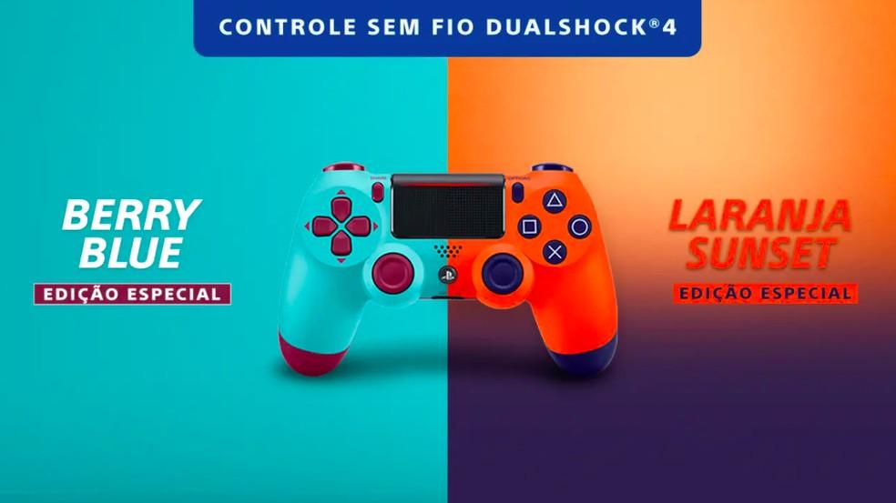 PS4: novas cores do controle DualShock 4 chegam oficialmente ao Brasil