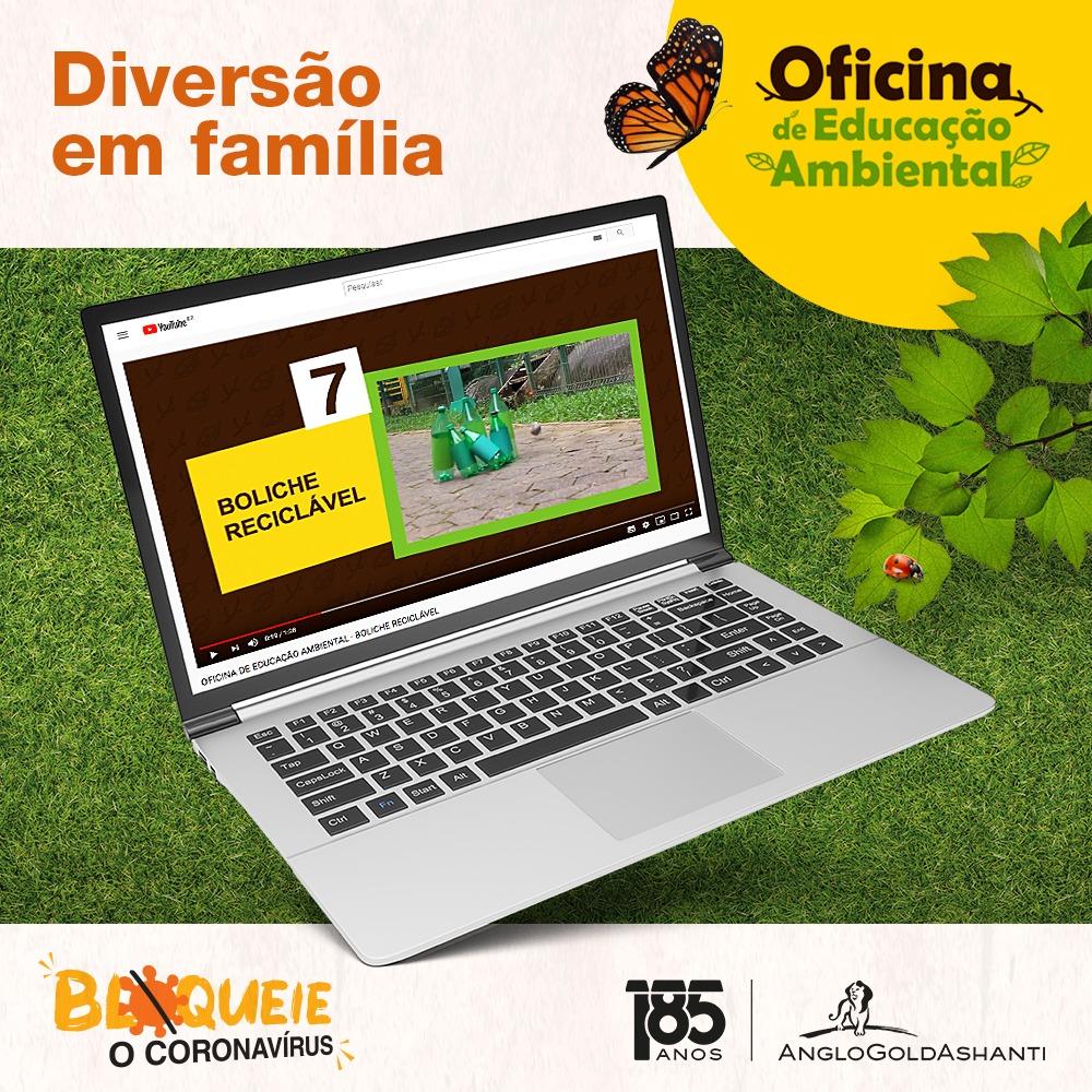 Covid-19: Centro de Educação Ambiental da AngloGold Ashanti oferece informação e diversão online para as crianças